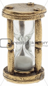 Old Metal Hourglass Sandglass