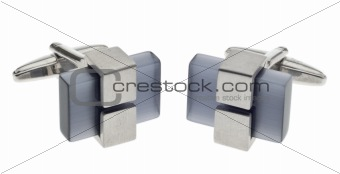 Modern Metal and Stone Cufflinks
