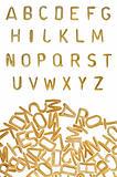 alphabet pasta font food background