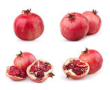 Set of juicy pomegranates