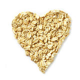 heart shape of oat