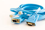 two flat network cable to configure routers