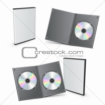 3d vector DVD boxes