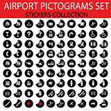 Airport pictograms set