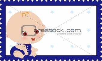 boy birth announcement card