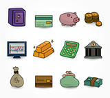 cartoon Finance &amp; Money Icon set