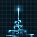 Abstract Christmas tree from heart beats cardiogram illustration - vector