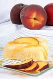 Heart shaped peach bavarian cream