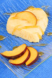 Heart shaped peach bavarian cream