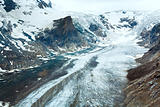 Alpine summer glacier view