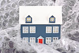 House protected with bubble wrap