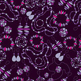 Vector seamless pattern of fashion jewelry