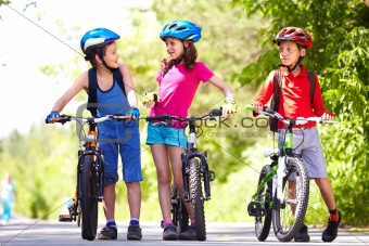Riding bikes together