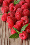 Raspberries close-up.