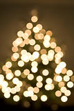 Abstract view of christmas tree and lights