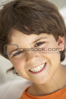 Portrait Of Boy Smiling