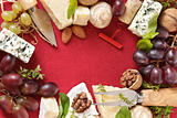 Cheese, nuts and wine.