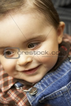 Portrait Of Baby Boy Smiling