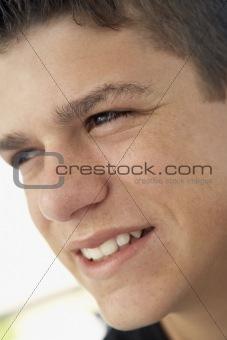 Portrait Of Teenage Boy Smiling