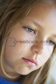 Portrait Of Girl Looking Depressed
