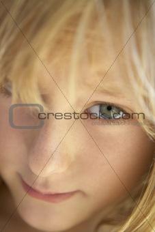 Portrait Of Shy Girl