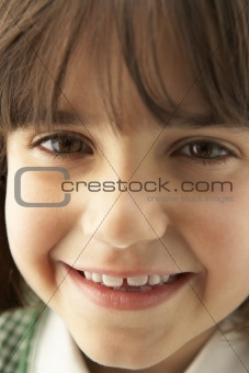 Portrait Of Girl Smiling