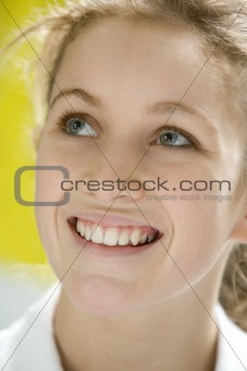 Portrait Of Teenage Girl Smiling