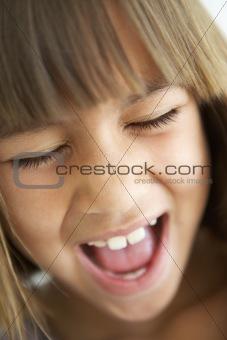 Portrait Of Girl Screaming