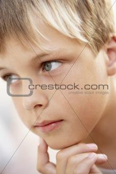 Portrait Of Boy Looking Pensive