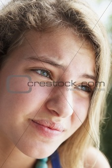 Portrait Of Teenage Girl Looking Worried