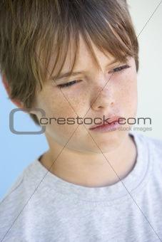 Portrait Of Boy Crying