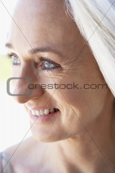 Portrait Of Senior Woman Looking At The Camera