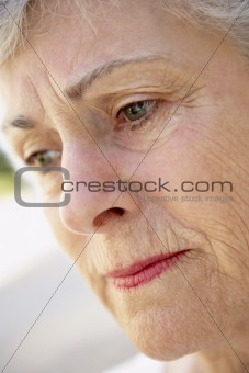Portrait Of Senior Woman Looking Serious