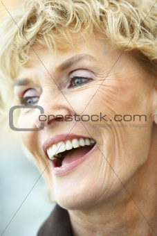 Portrait Of Senior Woman Laughing