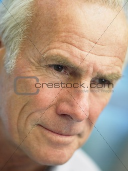 Portrait Of Senior Man Looking Serious