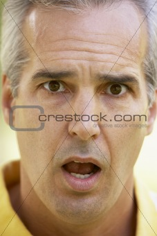 Portrait Of Surprised Middle Aged Man