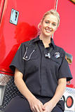 Portrait of female paramedic