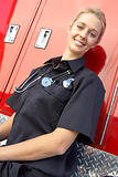 Portrait of female paramedic