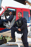 Portrait of pilot and paramedic by Medevac