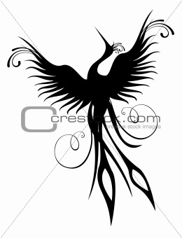 Phoenix bird figure isolated