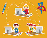 School social network communication