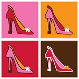 Pop pink stilettos background