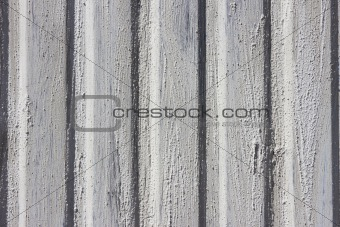 Cement on metal wall