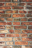 Old wall made from red bricks