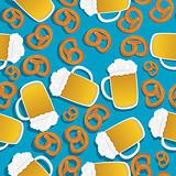 Beer and pretzels pattern