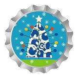 Christmas tree bottle cap
