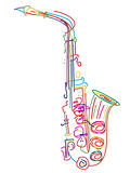 Stylized saxophone