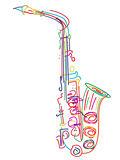 Stylized saxophone