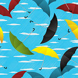 Umbrellas repeating pattern