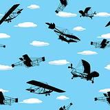 Vintage planes wallpaper
